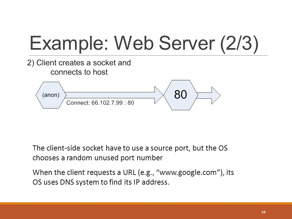 Example: Web Server (3/3) 35 Listener is ready for more incoming connections, while current connection can processed in parallel.