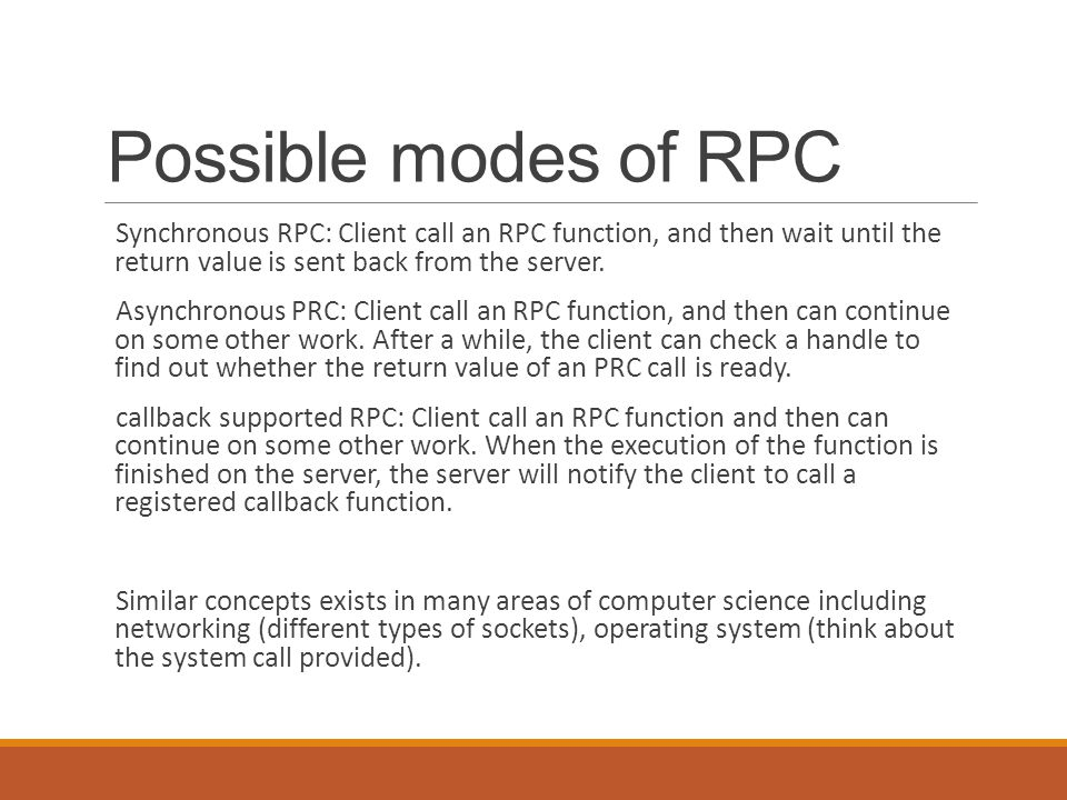 Synchronous RPC 54
