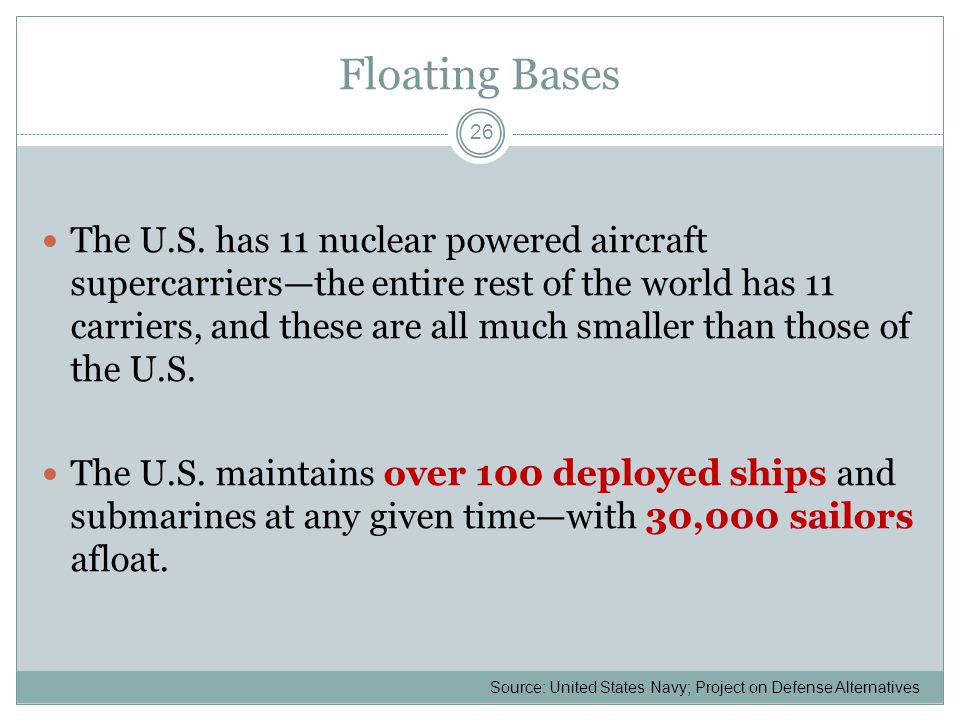 Floating Bases The U.S.