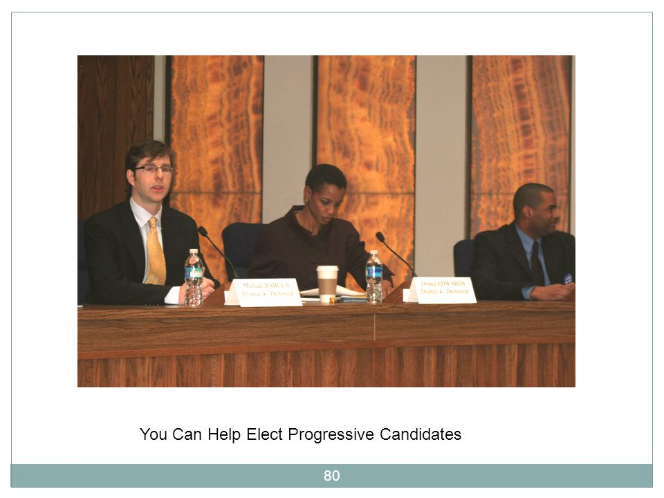 80 You Can Help Elect Progressive Candidates