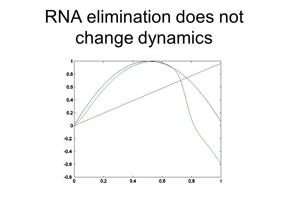 RNA elimination does not change dynamics