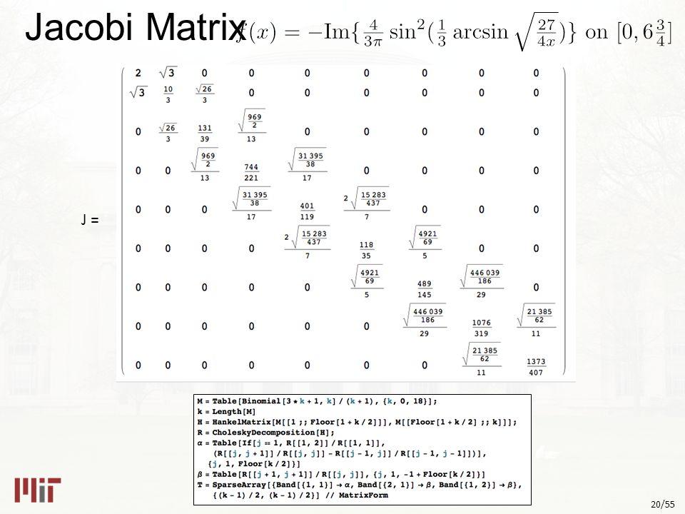 20/55 Jacobi Matrix J =