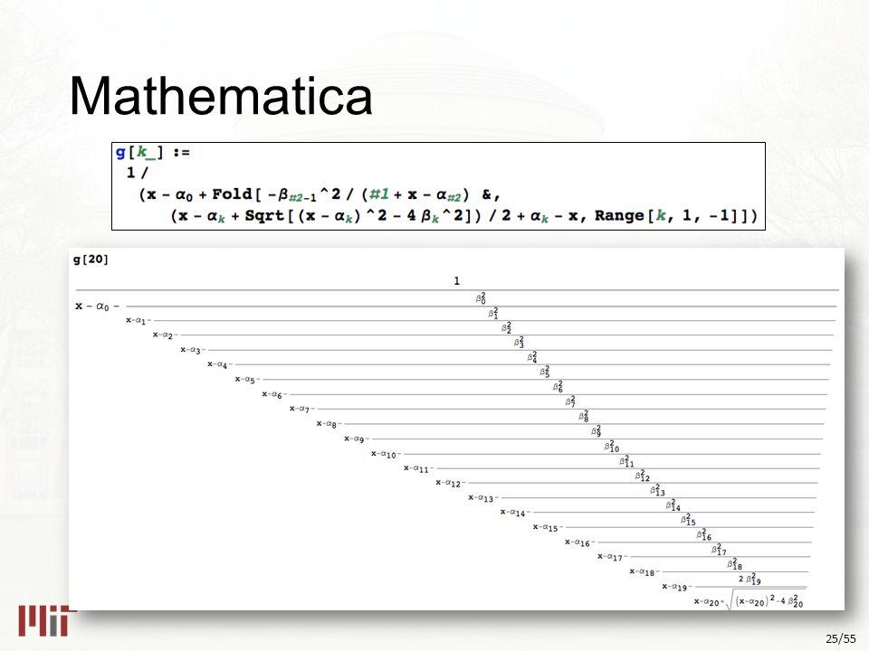 25/55 Mathematica