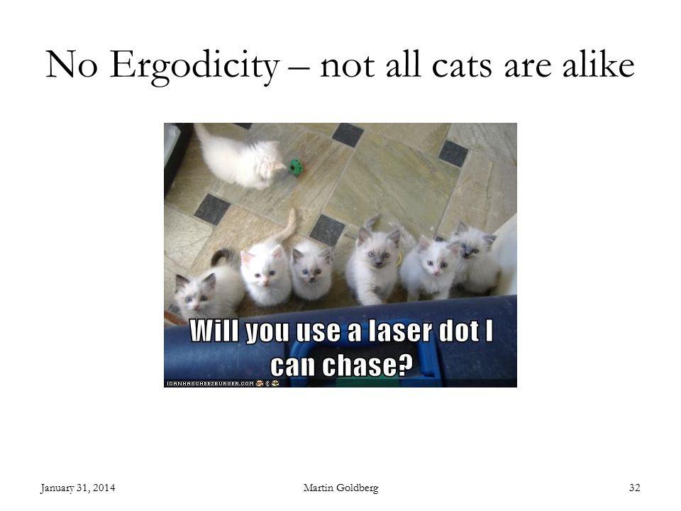 No Ergodicity – not all cats are alike January 31, 2014Martin Goldberg32