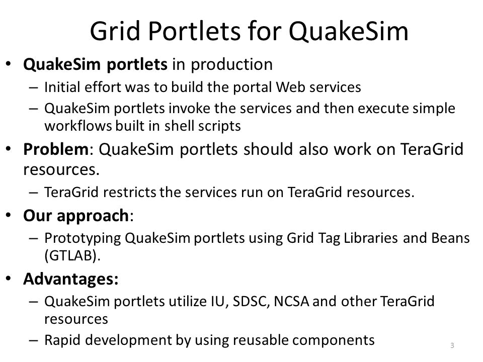 QuakeSim portlets using TeraGrid Disloc is used to calculate surface displacements from earthquake faults.