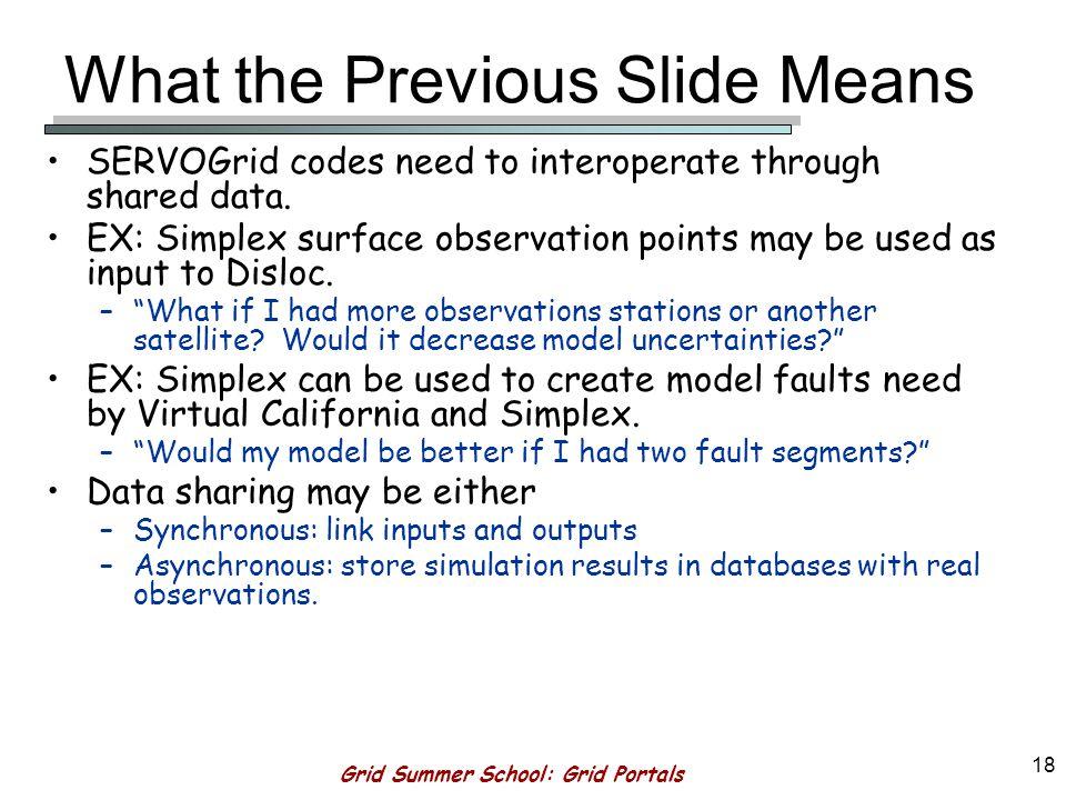 Grid Summer School: Grid Portals 17 Interoperability through Data Sharing