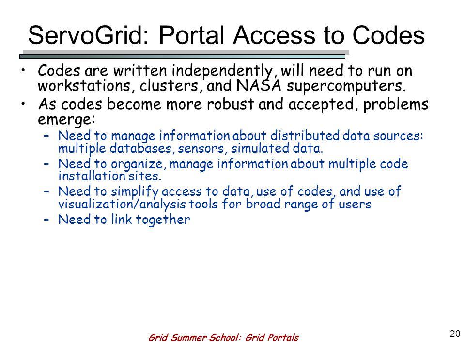 Grid Summer School: Grid Portals 19 GeoFEST Simulation of 1994 Northridge Earthquake