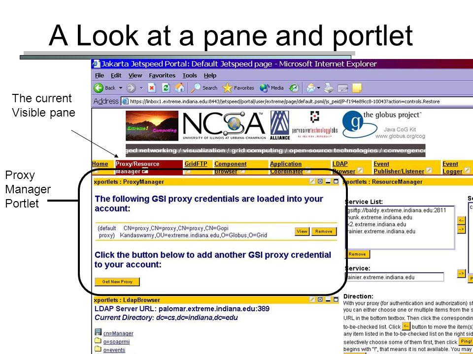 Grid Summer School: Grid Portals 49 The Standard Implementation Based on the Java Portlet model.
