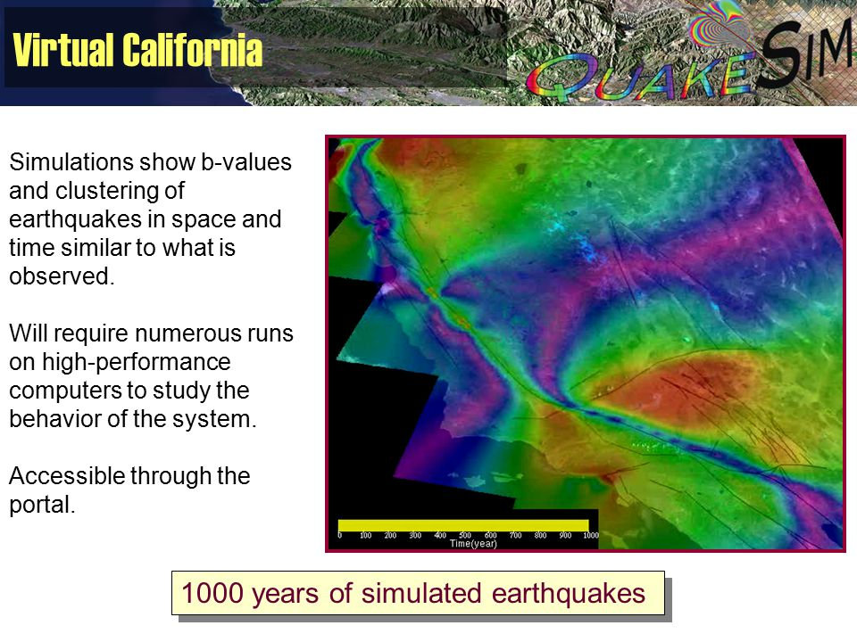 Virtual California Simulations show b-values and clustering of earthquakes in space and time similar to what is observed.