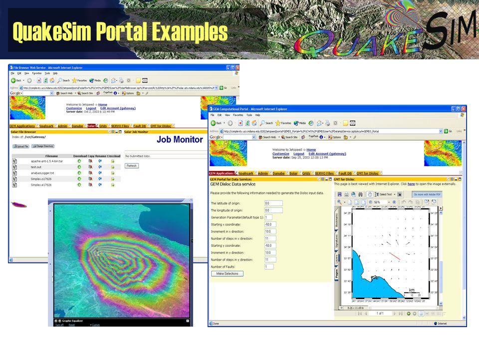 QuakeSim Portal Examples