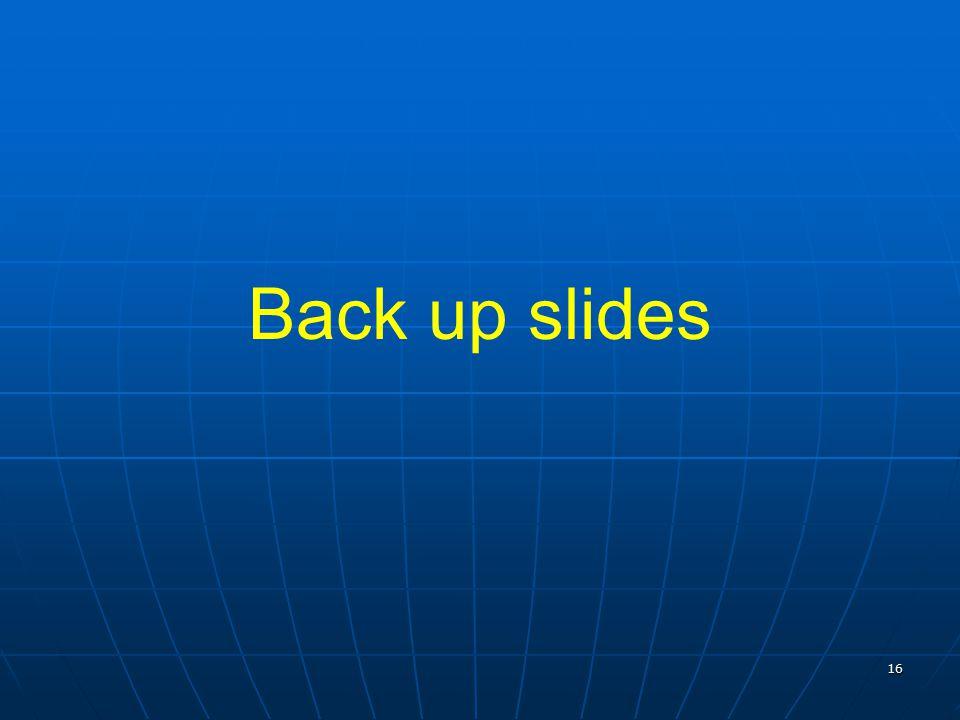 16 Back up slides
