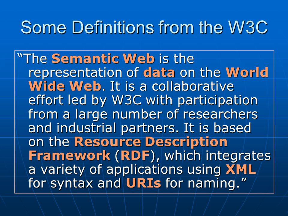 Example: A vCard in RDF/XML Geoffrey Fox