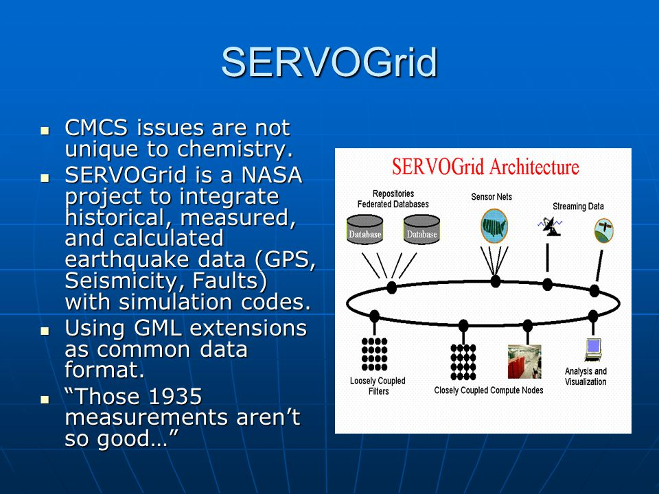 SERVOGrid CMCS issues are not unique to chemistry.