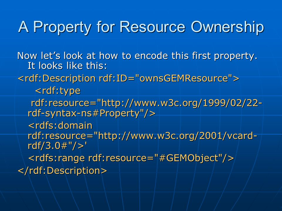 A Property for Resource Ownership Now let's look at how to encode this first property.