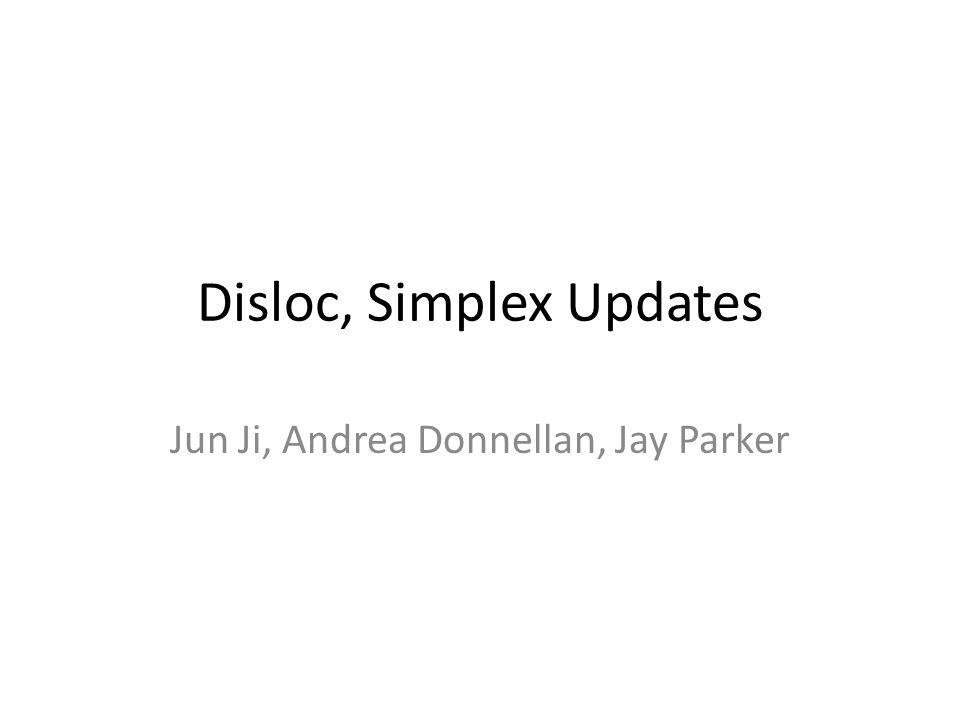 Disloc, Simplex Updates Jun Ji, Andrea Donnellan, Jay Parker
