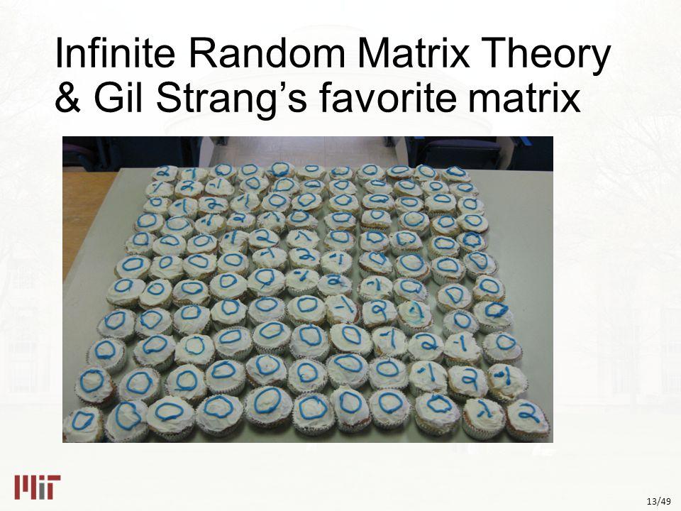 13/49 Infinite Random Matrix Theory & Gil Strang's favorite matrix