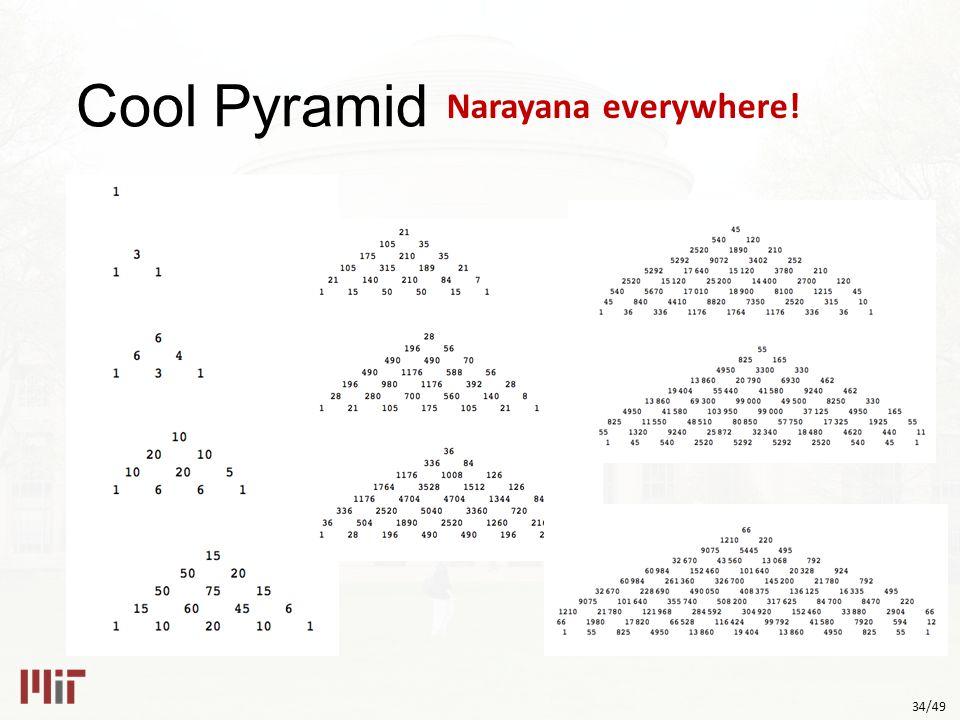 34/49 Cool Pyramid Narayana everywhere!