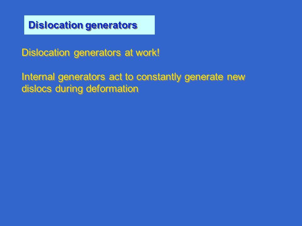 Dislocation generators Dislocation generators at work.