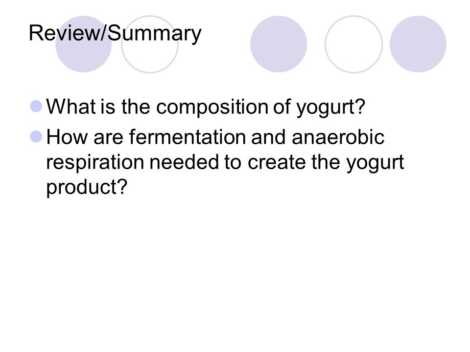 Review/Summary What is the composition of yogurt.