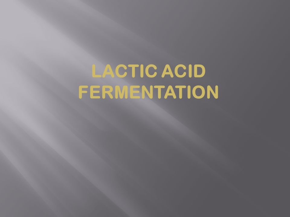 Lactic acid fermentation is the process of degradation of the feast to lactic acid.