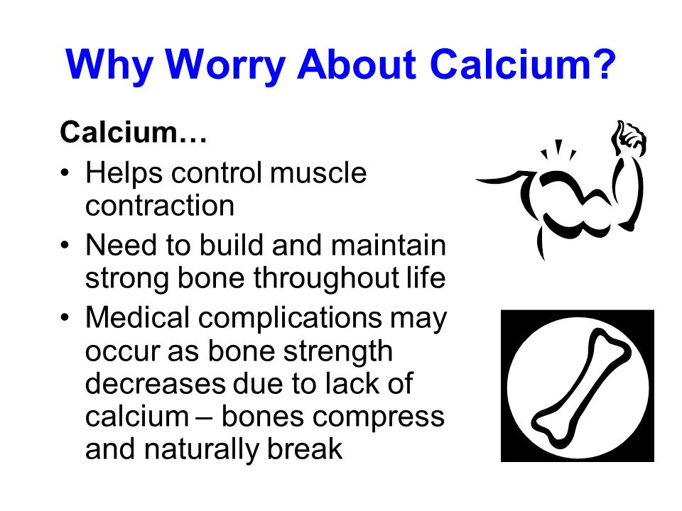 Why Worry About Calcium.