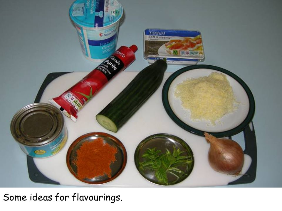 Some ideas for flavourings.