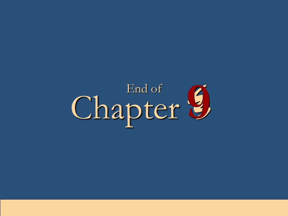 9-52 Chapter End of