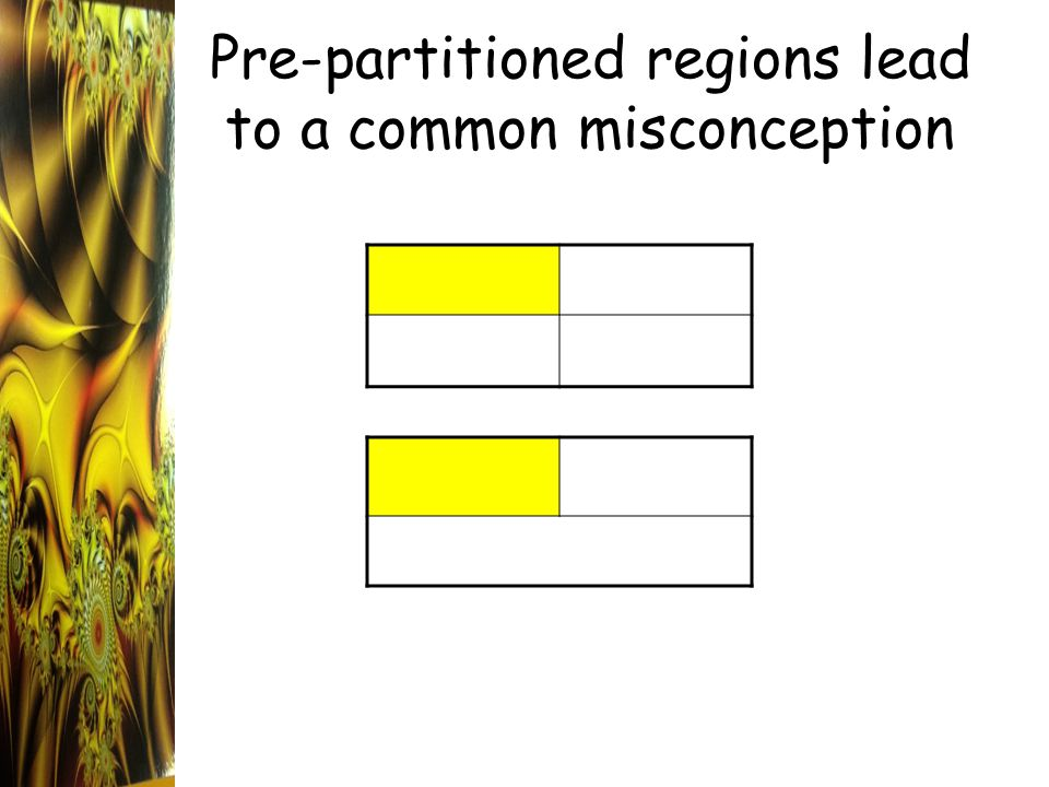 Pre-partitioned regions lead to a common misconception