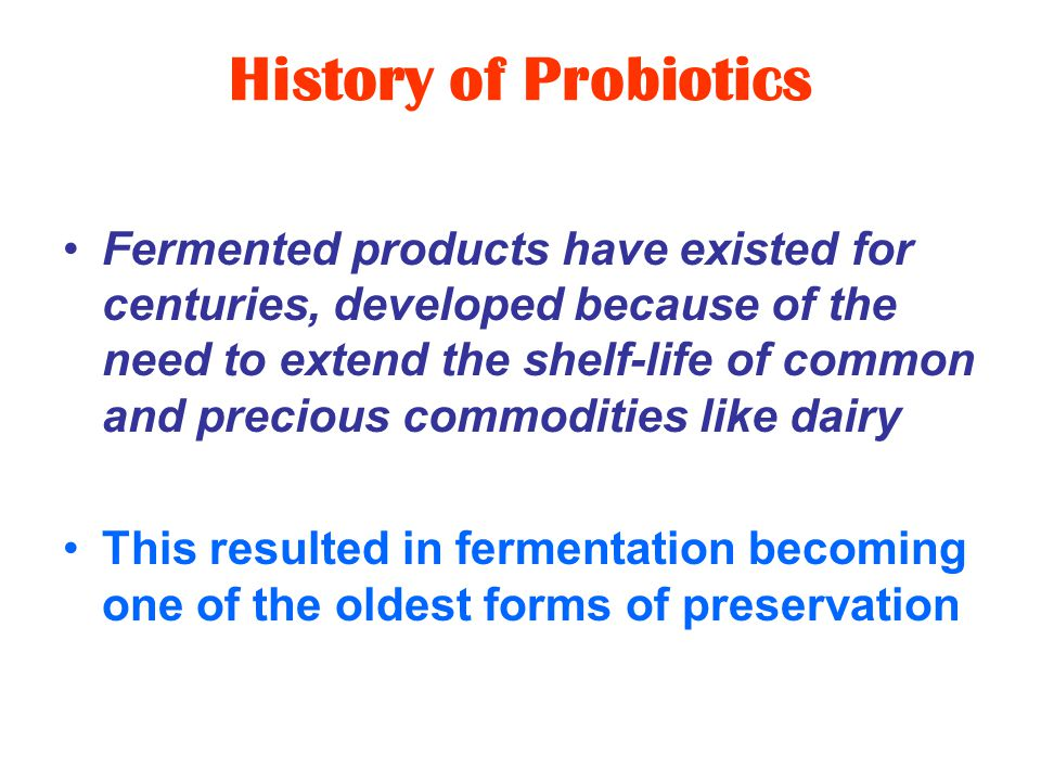 Probiotic Products - Why do they matter.