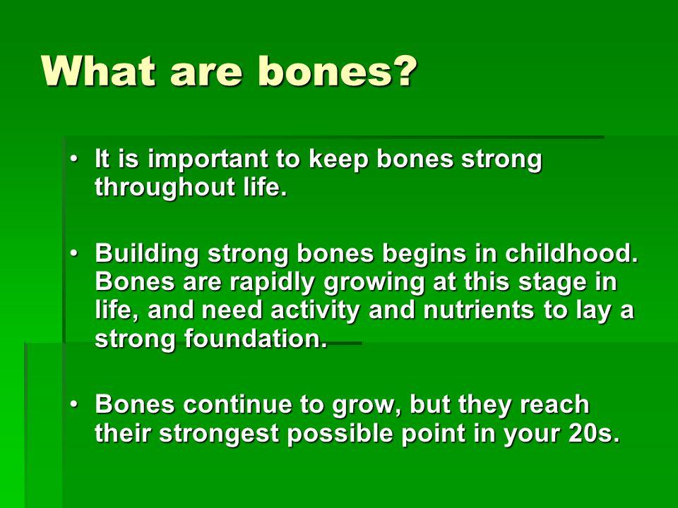 What are bones.