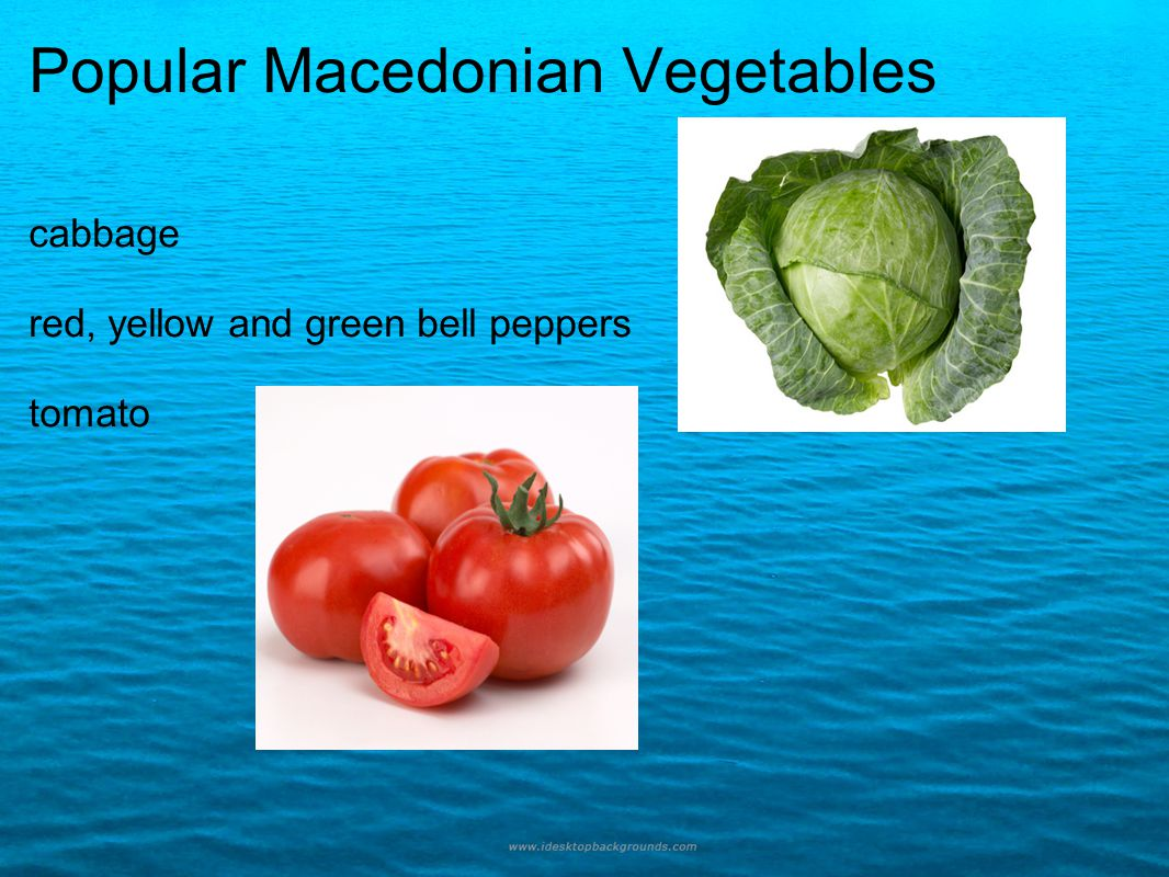 Popular Macedonian Vegetables cabbage red, yellow and green bell peppers tomato