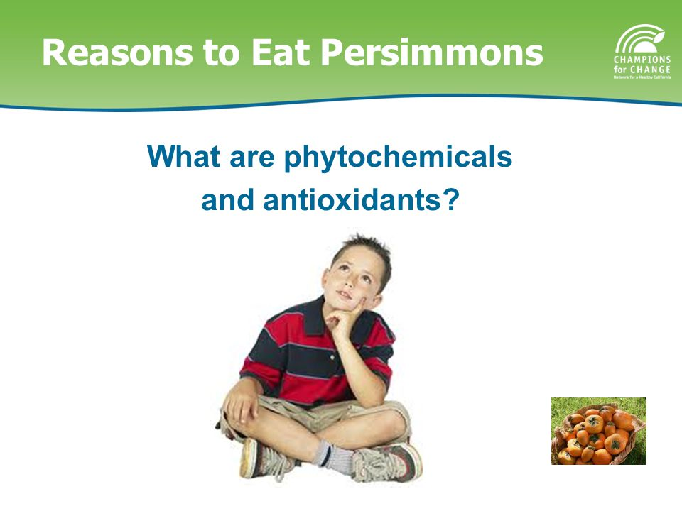 Reasons to Eat Persimmons What are phytochemicals and antioxidants?