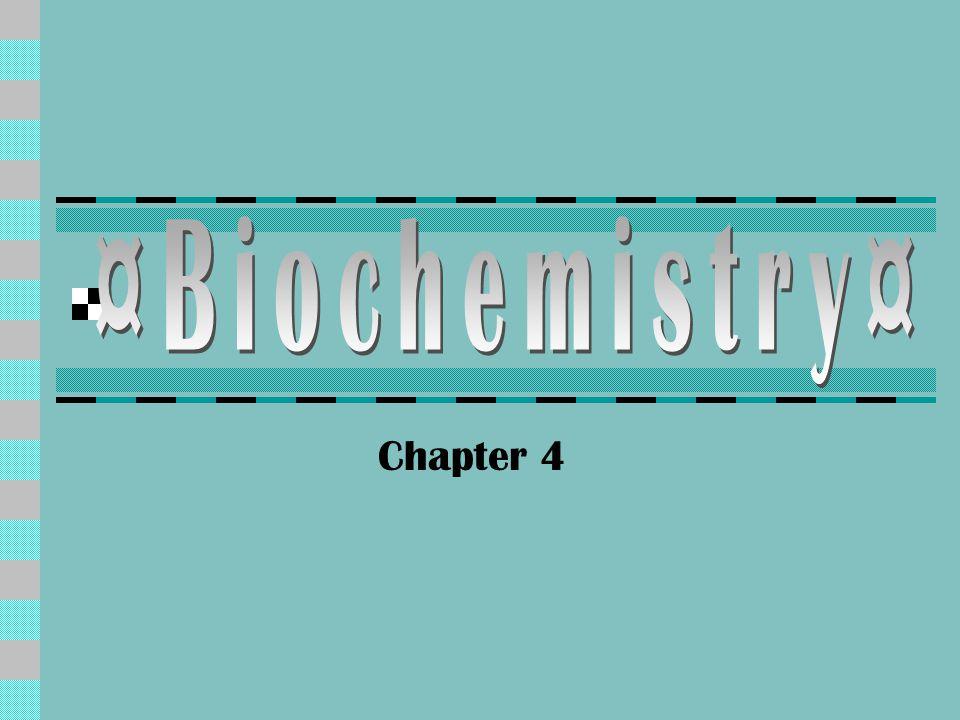 Intro to Biochemistry Element: Element: NA+, Cl-, S, O, H, C  Atom: Atom: