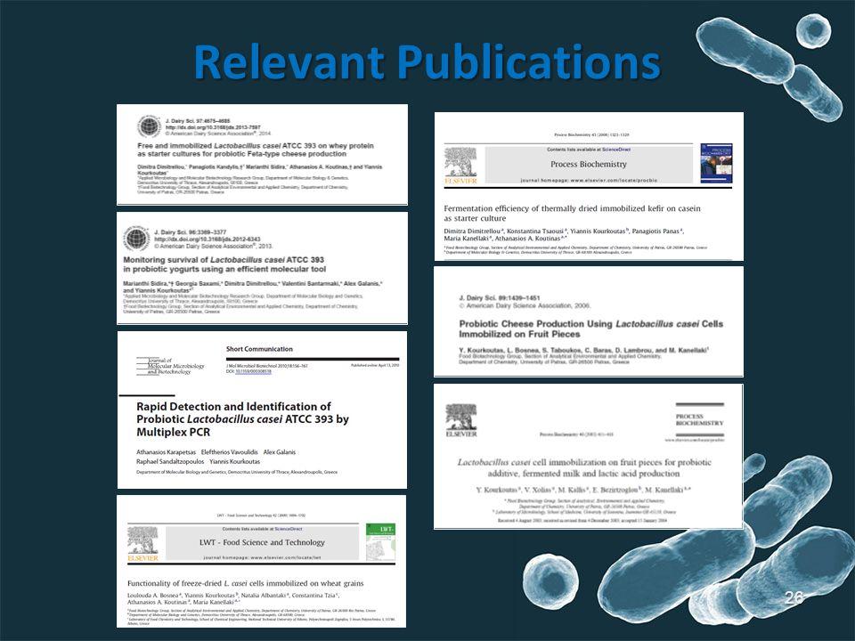 26 Relevant Publications