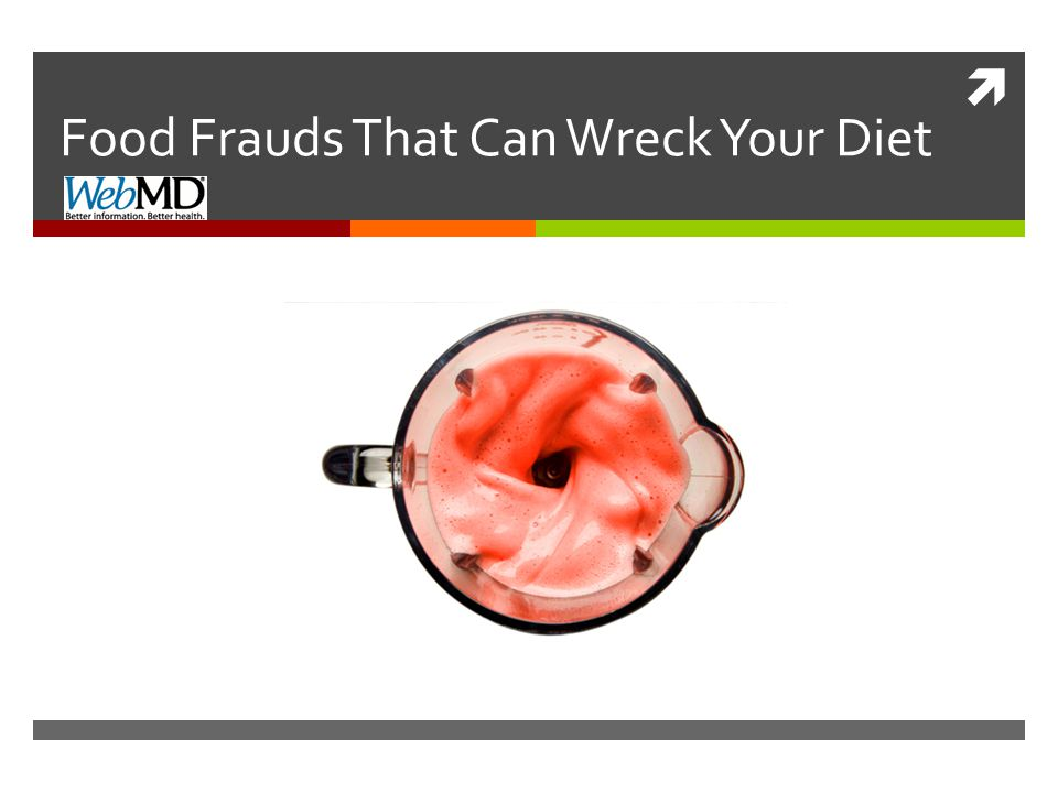 Food Fraud: Fruit Smoothies  Some foods that we think are healthy can be sneaky little diet wreckers.