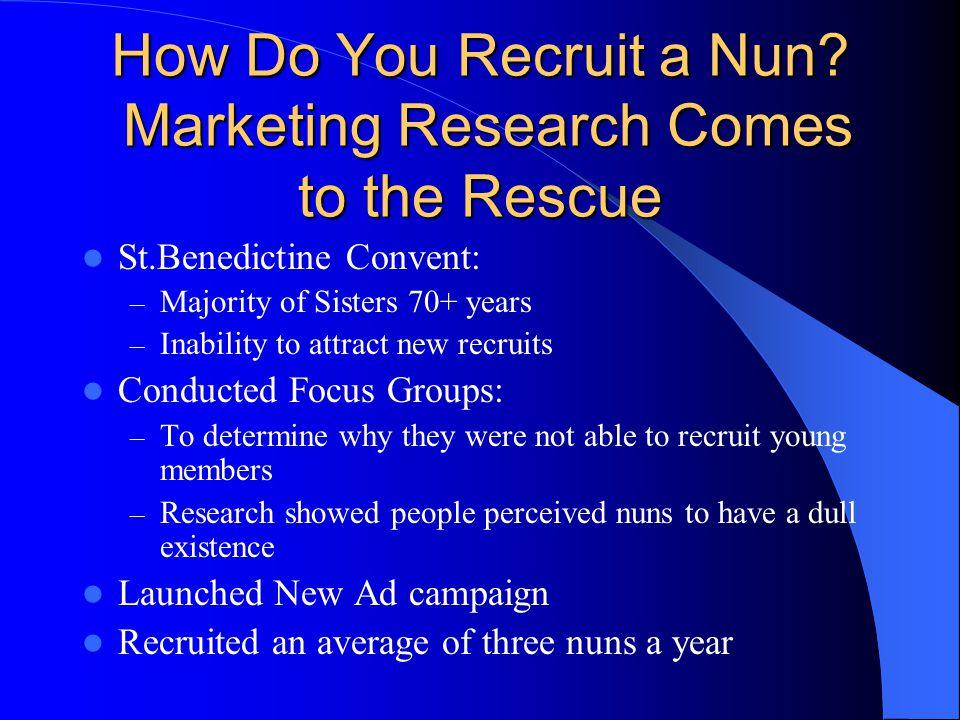 How Do You Recruit a Nun.