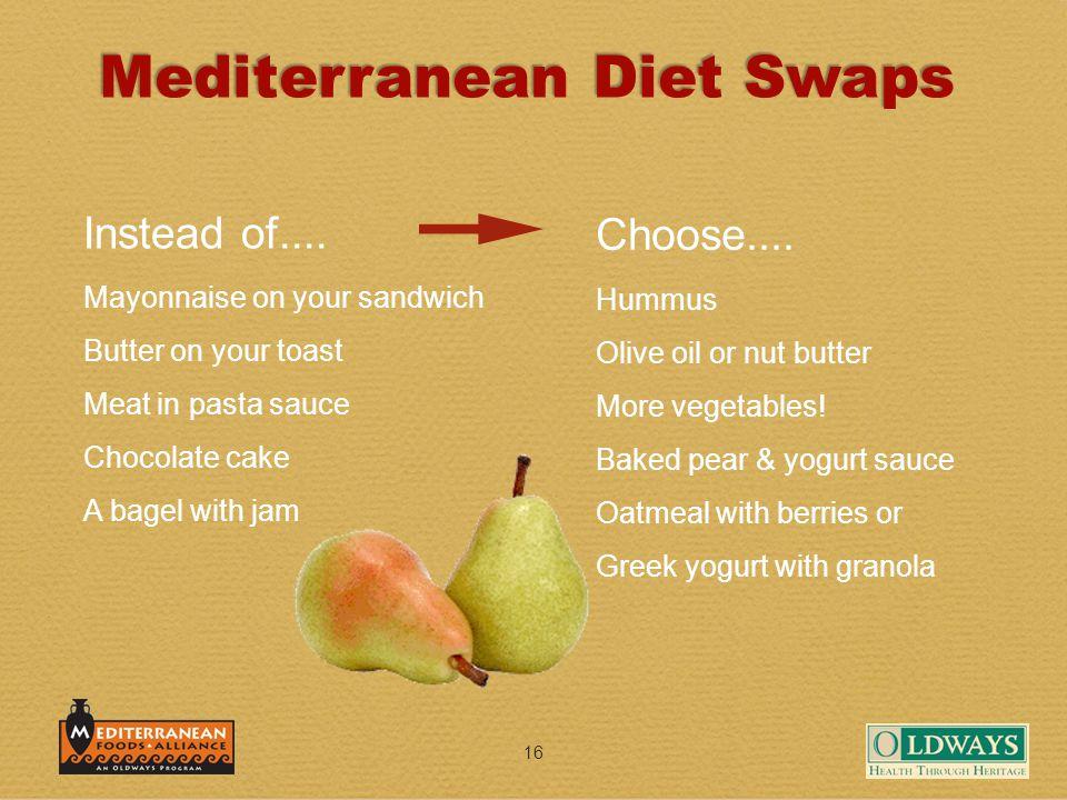 16 Mediterranean Diet Swaps Instead of....
