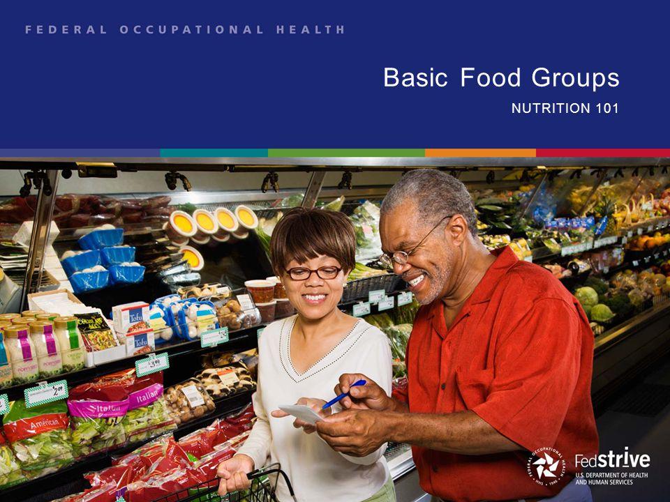 Basic Food Groups NUTRITION 101