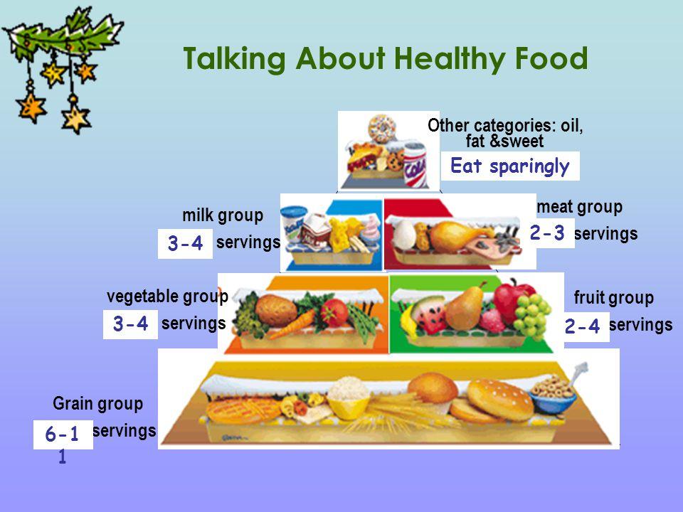 milk group . servings fruit group . servings Grain group .