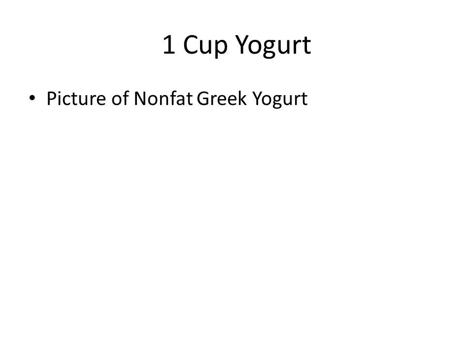 1 Cup Yogurt Picture of Nonfat Greek Yogurt