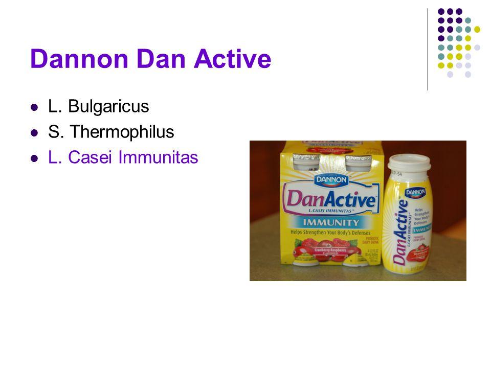 Dannon Dan Active L. Bulgaricus S. Thermophilus L. Casei Immunitas