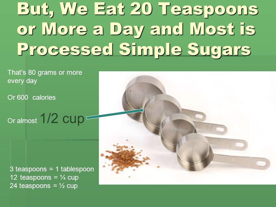Green Teas 20 Ounce Bottle 47 grams Sugar Or 11 ¾ teaspoons Rule of Thumb: No more than 40 grams of sugar or 10 teaspoons per day