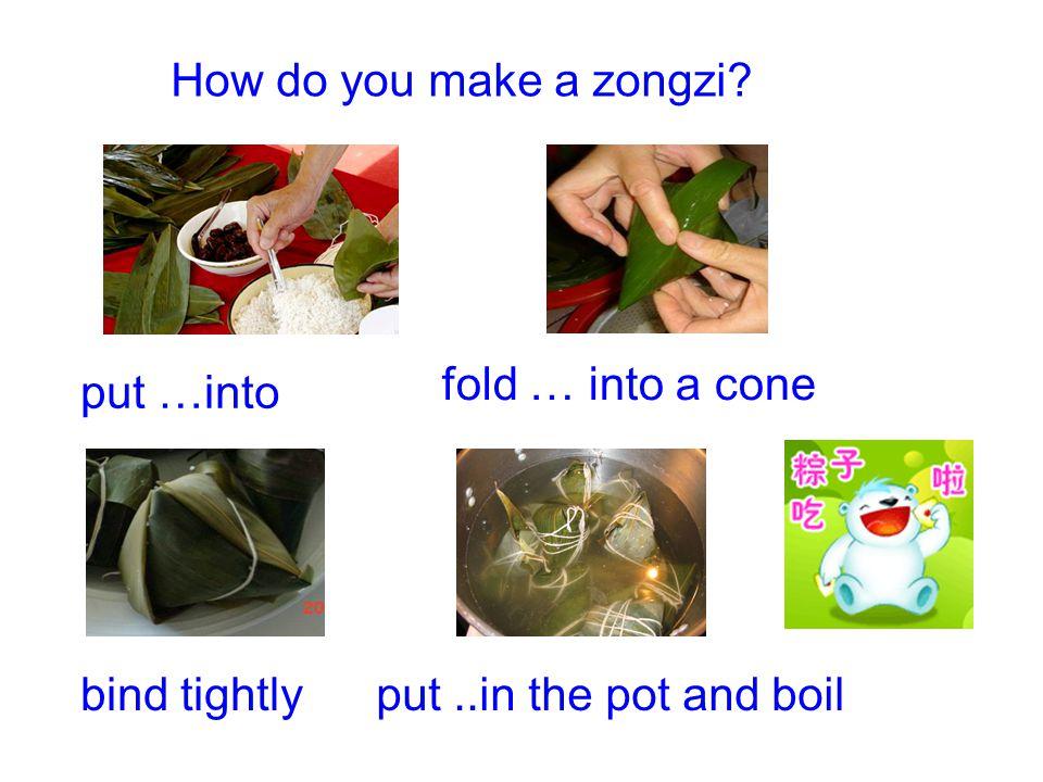 zongzi glutinous rice ingredients bamboo leaves Chinese datesbeans