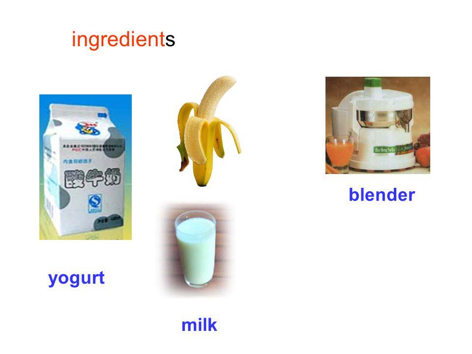 banana milk shake What do we need to make a banana milk shake?