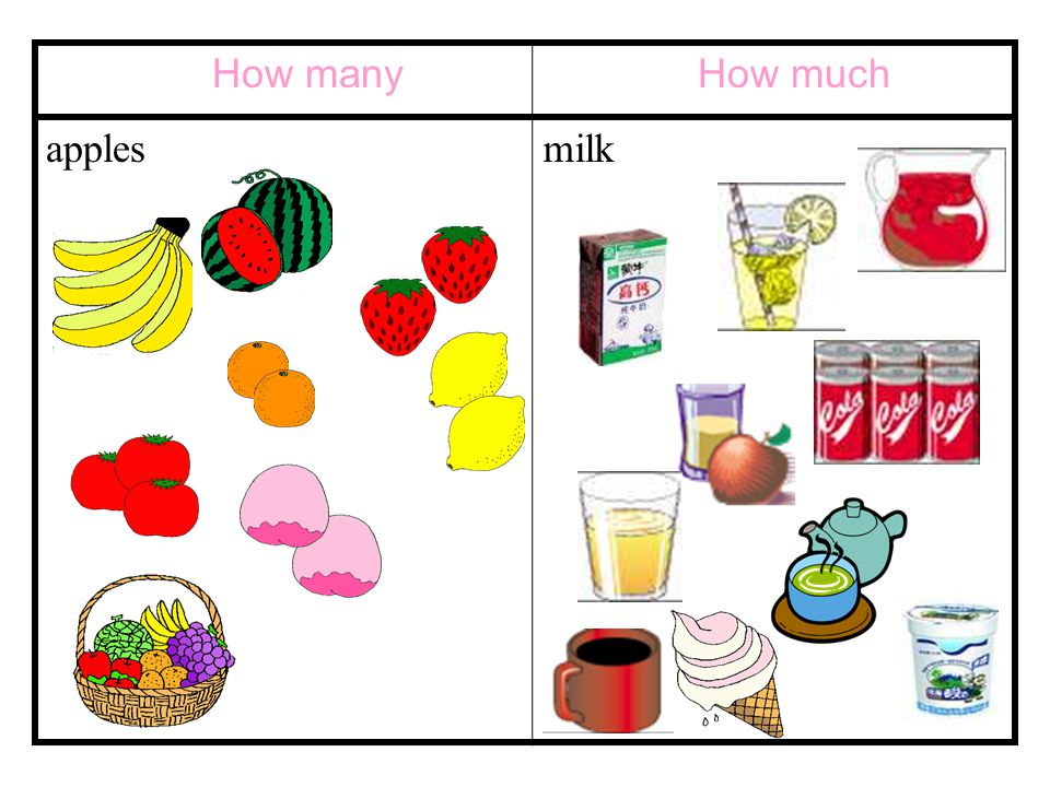 How many applesmilk