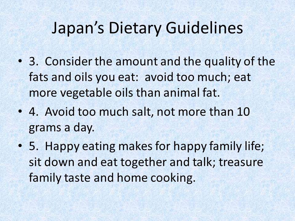 Japan's Dietary Guidelines 3.