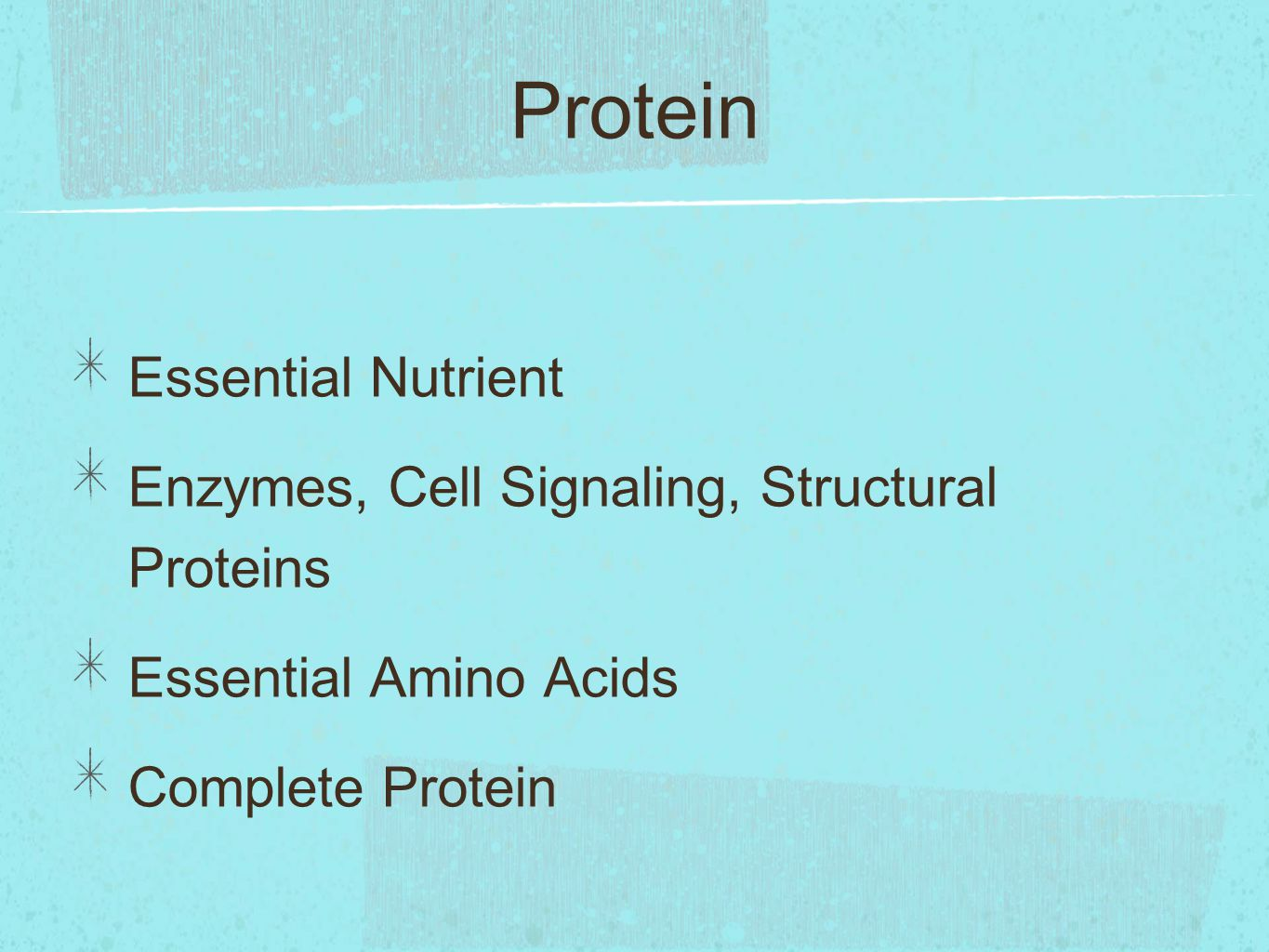 Protein Animal Protein vs Plant Protein Digestion Complete vs Incomplete Soy Ideal Amounts Why are we seeing such a push for protein?