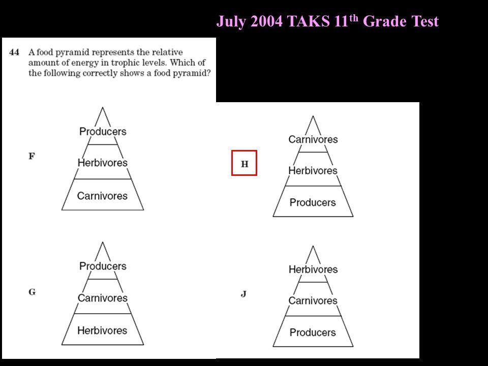 July 2004 TAKS 11 th Grade Test