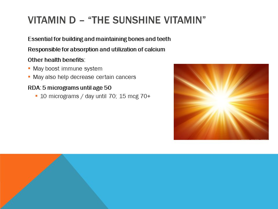 TOO LITTLE VITAMIN D Vitamin D deficiency has been in the news a lot lately.