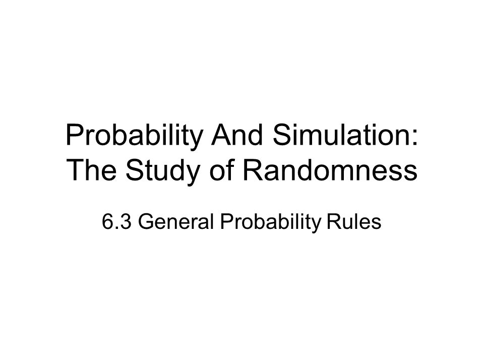 Rules of Probability Recap Rule 1.0 < P(A) < 1 for any event A Rule 2.P(S) = 1 Rule 3.